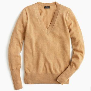 J. CREW Cashmere V-neck fitted sweater M